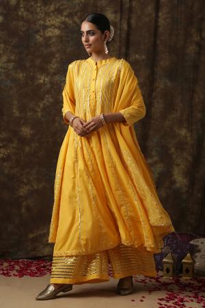 yellow Mrinalika salwar suit