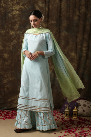 turquoise blue Ambika Salwar suit