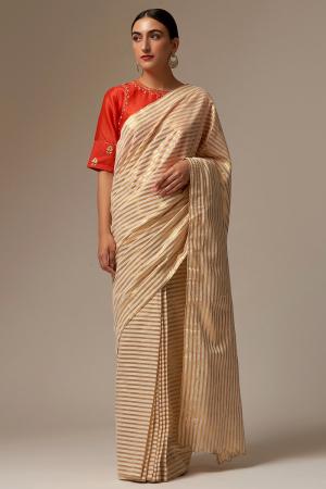 off white cotton sarees set