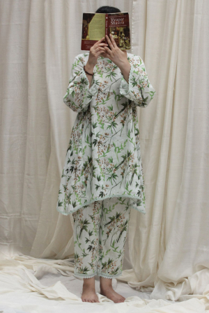Forest print linen tunic