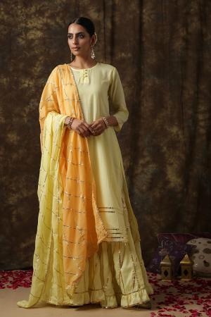 Yellow Ambika Salwar suit