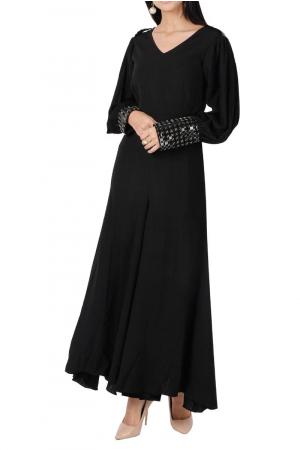 Classic black maxi dress