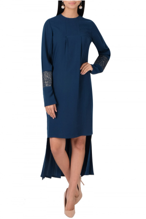 Electric blue high-low dress