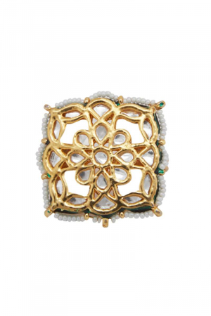 Kundan Square Ring