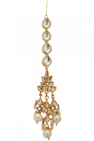 Drop work kundan teeka