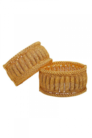 Gold Broad Bangles