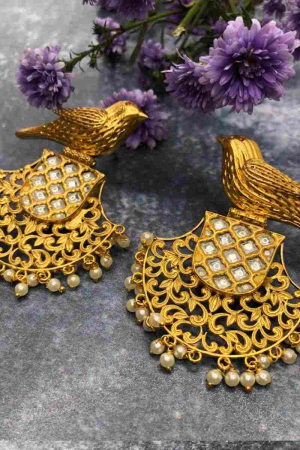 Fan Bird Earrings