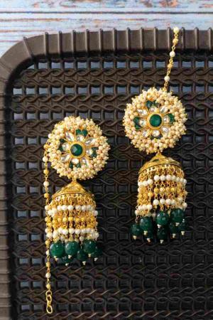 Emerald Blob Jhumka