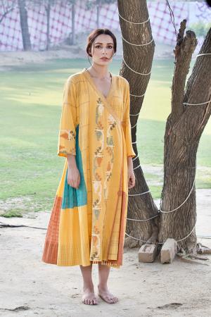 mango angarkha dress