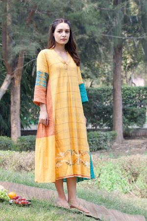 mango panel dress