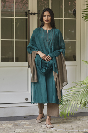 Emerald Tagai Work Kurta Set