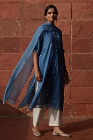 Azure Tie & Dye Kurta Set