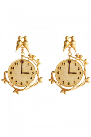 Hanging clock Earrings
