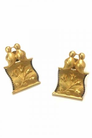 Parchment earrings