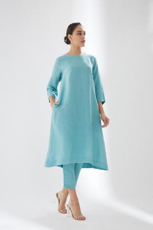 Sky blue set with pocket details