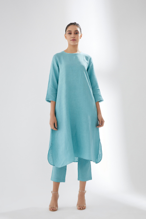 Sky blue tunic set