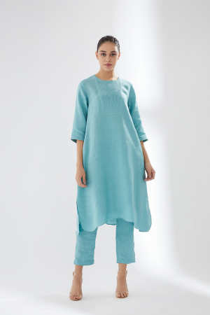 Sky blue comfy fit tunic set