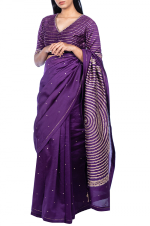 Mandala pallu saree with blouse