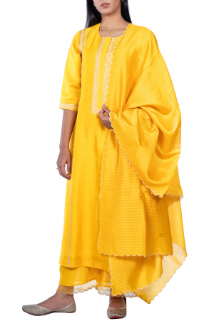 Kurta set with organza dupatta
