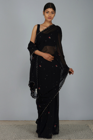 Multi carnation saree