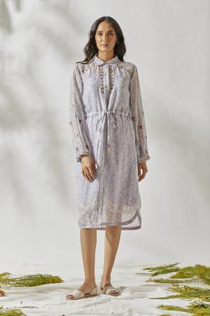 Mirror work banjara  shirt dress