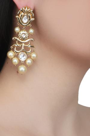 Audrey gold earrings