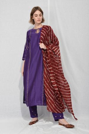 Purple ink tilla tunic set