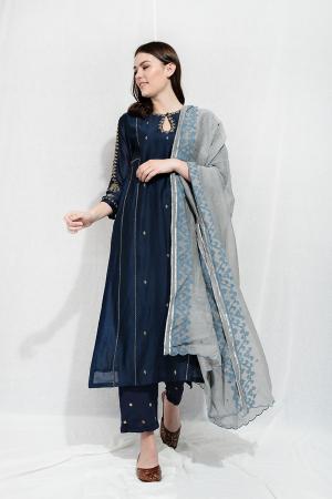Indigo ink taara nila tunic set