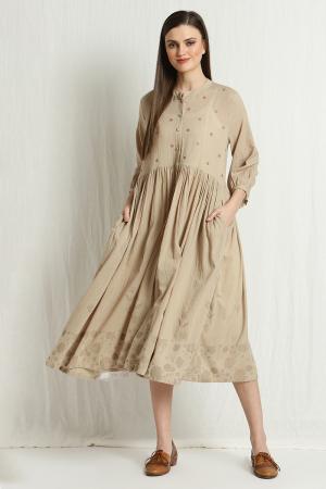 casey pleated dress