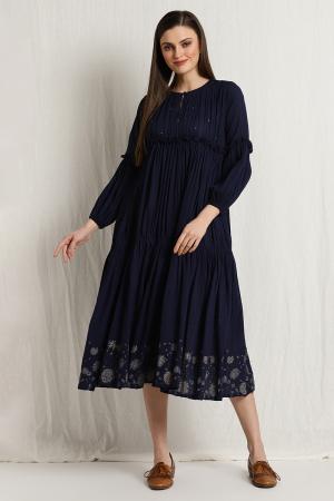 miraya pleated dress