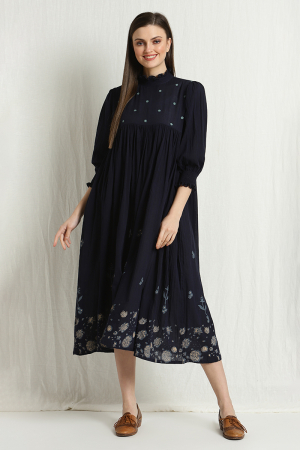 stacy pleated dress