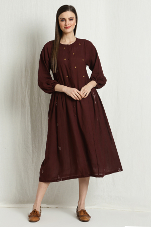 daisy pleated dress
