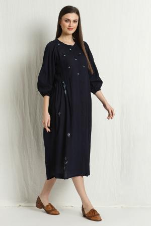 allie pleated dress