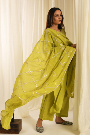 Lime gota kurta set