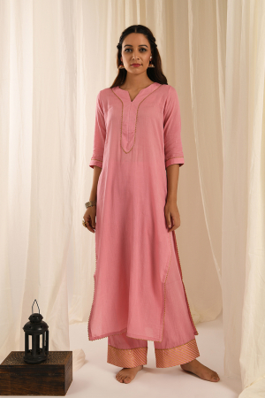 Old rose kurta set