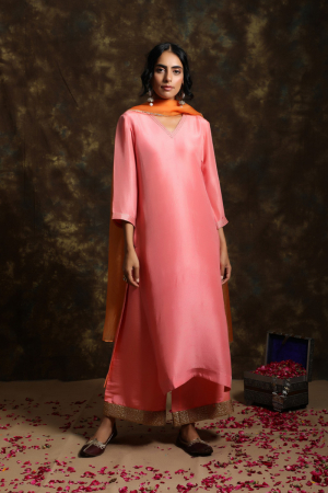 Gul suit with jama and Organza Odhni