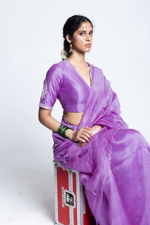 Lillac Bishnoi Organza Silk Sari
