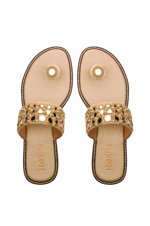 Mirror Flats in Gold