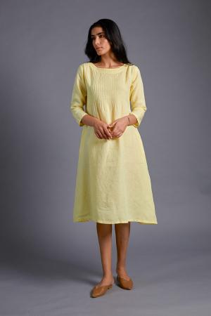 Serene Pintucked Dress