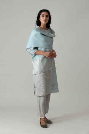 Amara Embroidered Kurta Set With Pants And Dupatta