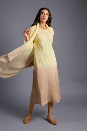 Vai Hand-Dyed Linen Cape