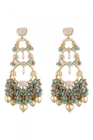 Gold Finish Dangler Earrings