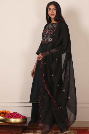 black stargaze kurta set