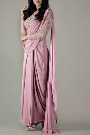 Old Rose Drape Sari