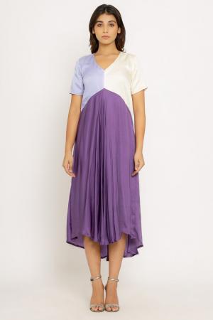 Purple-Lilac Midi Dress