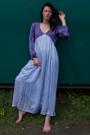 Purple-Lilac Maxi Dress