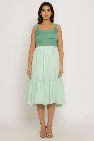 Teal -Tea Green Midi Dress