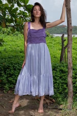 purple-lilac -midi-Dress