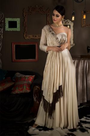 Single Shoulder Gown