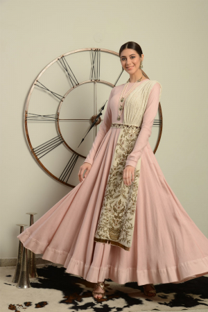 Pastel Pink Embroidered Gown